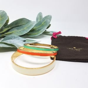 KATE SPADE Enamel Bangle Bracelet Trio Set Lot